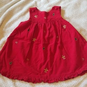 24m red Christmas dress